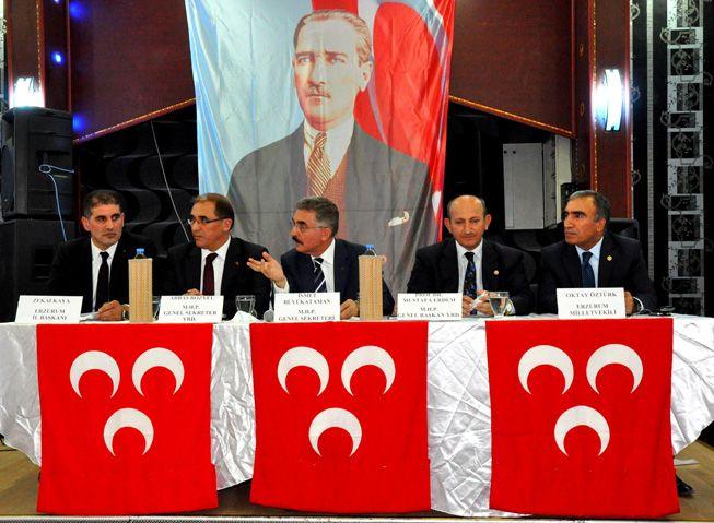 MHP Bölge toplantısı Erzurum'da yapıldı