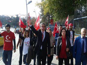 CHP'den Erzurum'da 91'inci yıl yürüyüşü